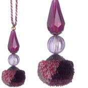Jones Interlude Beaded Pendant, Aubergine