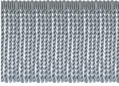 Jones Metallic Bullion Fringe Trimming, Gun Metal