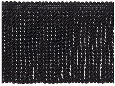 Jones Metallic Bullion Fringe Trimming, Black