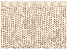 Jones Metallic Bullion Fringe Trimming, Sand