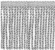 Jones Metallic Bullion Fringe Trimming, Silver