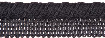 Jones Metallic Flanged Cord, Black