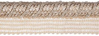 Jones Metallic Flanged Cord, Sand