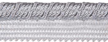 Jones Metallic Flanged Cord, Silver