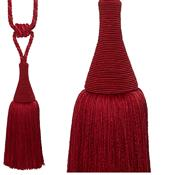 Hallis Colour Passion Trends Large Tassel Tieback, Ruby