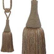 Hallis Colour Passion Trends Large Tassel Tieback, Jute