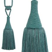 Hallis Colour Passion Trends Large Tassel Tieback, Azure