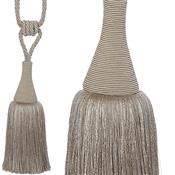 Hallis Colour Passion Trends Small Tassel Tieback, Silver Grey