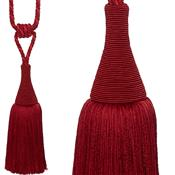 Hallis Colour Passion Trends Small Tassel Tieback, Ruby
