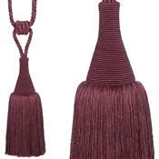 Hallis Colour Passion Trends Small Tassel Tieback, Damson