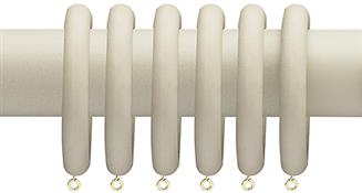 Advent Vintage Painted Wood Curtain Pole 47mm Rings, Vintage White