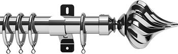 Swish Design Studio 35mm Classical Curtain Pole, Chrome, Kremlin