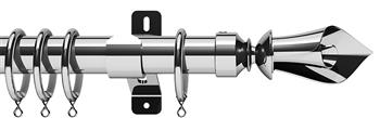Swish Design Studio 35mm Classical Curtain Pole, Chrome, Blossom