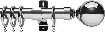 Swish Design Studio 35mm Classical Curtain Pole, Chrome, Mondiale