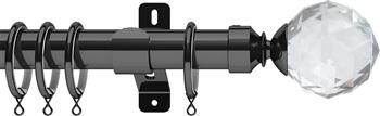 Swish Design Studio 35mm Classical Curtain Pole, Graphite, Prisma