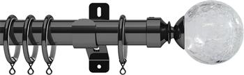 Swish Design Studio 35mm Classical Curtain Pole, Graphite, Gossamer
