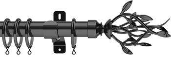 Swish Design Studio 35mm Classical Curtain Pole, Graphite, Entwine