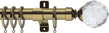Swish Design Studio 35mm Classical Curtain Pole, Antique Brass, Prisma