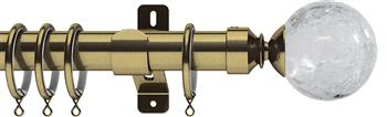Swish Design Studio 35mm Classical Curtain Pole, Antique Brass, Gossamer