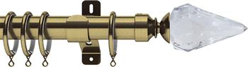 Swish Design Studio 35mm Classical Curtain Pole, Antique Brass, Kwartz