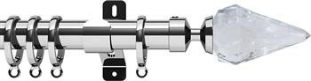 Swish Design Studio 35mm Contemporary Curtain Pole, Chrome, Kwartz