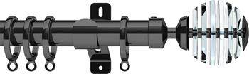 Swish Design Studio 35mm Contemporary Curtain Pole, Graphite, Rondelle