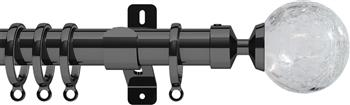 Swish Design Studio 35mm Contemporary Curtain Pole, Graphite, Gossamer