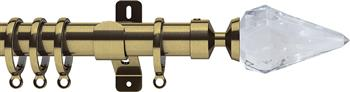 Swish Design Studio 35mm Contemporary Curtain Pole, Antique Brass, Kwartz