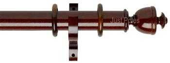Byron Deluxe 55mm Curtain Pole Apaulia, Dark Oak