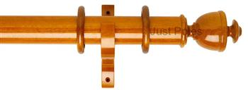 Byron Deluxe 55mm Curtain Pole Apaulia, Cherrywood