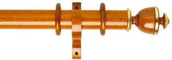 Byron Deluxe 55mm Curtain Pole Apaulia, Cherrywood/Gold