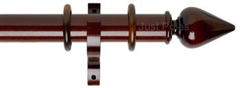 Byron Deluxe 55mm Curtain Pole Miciene, Dark Oak