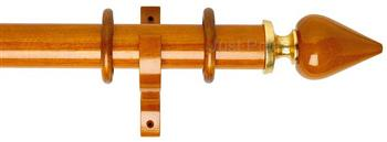 Byron Deluxe 55mm Curtain Pole Miciene, Cherrywood/Gold