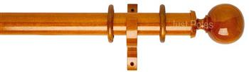 Byron Deluxe 55mm Curtain Pole Ball, Cherrywood