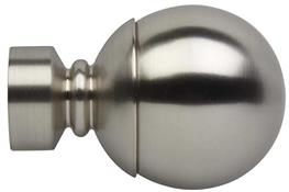 Neo 35mm Curtain Pole Ball Finial Only, Stainless Steel