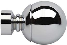Neo 35mm Curtain Pole Ball Finial Only, Chrome