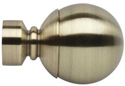 Neo 35mm Curtain Pole Ball Finial Only, Spun Brass
