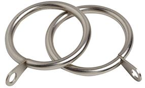 Speedy Pristine 25mm-28mm Curtain Pole Rings, Satin Silver