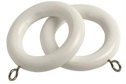 Speedy County Curtain Pole Rings 28mm, White
