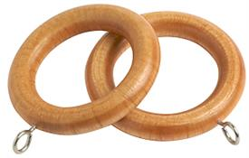 Speedy County Curtain Pole Rings 28mm, Light Ash
