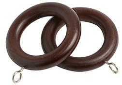 Speedy County Curtain Pole Rings 28mm, Chestnut
