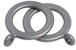 Speedy 16mm-19mm Curtain Pole Rings, Silver
