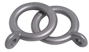 Speedy 10mm-13mm Curtain Pole Rings, Silver