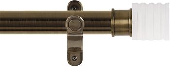 Renaissance Spectrum 35mm Eyelet Curtain Pole Antique Brass, Acrylic Cube