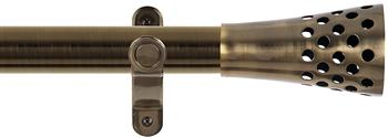 Renaissance Spectrum 35mm Eyelet Curtain Pole Antique Brass, Trumpet