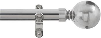 Renaissance Spectrum 35mm Eyelet Curtain Pole Polished Silver, Plain Ball