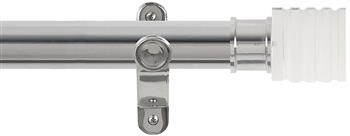 Renaissance Spectrum 35mm Eyelet Curtain Pole Polished Silver, Acrylic Cube