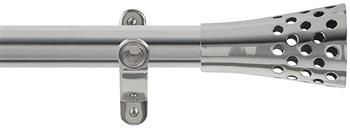 Renaissance Spectrum 35mm Eyelet Curtain Pole Polished Silver, Trumpet