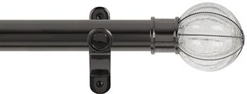 Renaissance Spectrum 35mm Eyelet Curtain Pole Black Nickel, Glass Pumpkin