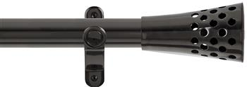 Renaissance Spectrum 35mm Eyelet Curtain Pole Black Nickel, Trumpet